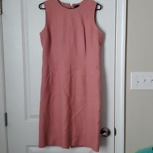 Ana Taylor pink linen dress